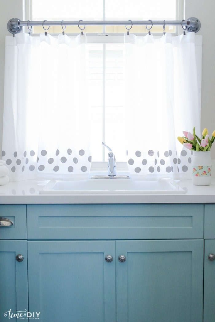 Painted Polka-Dot Curtains from LollyJane