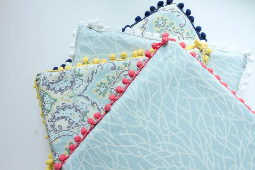 DIY No-Sew Reversible Chair Cushions from MomAdvice.com