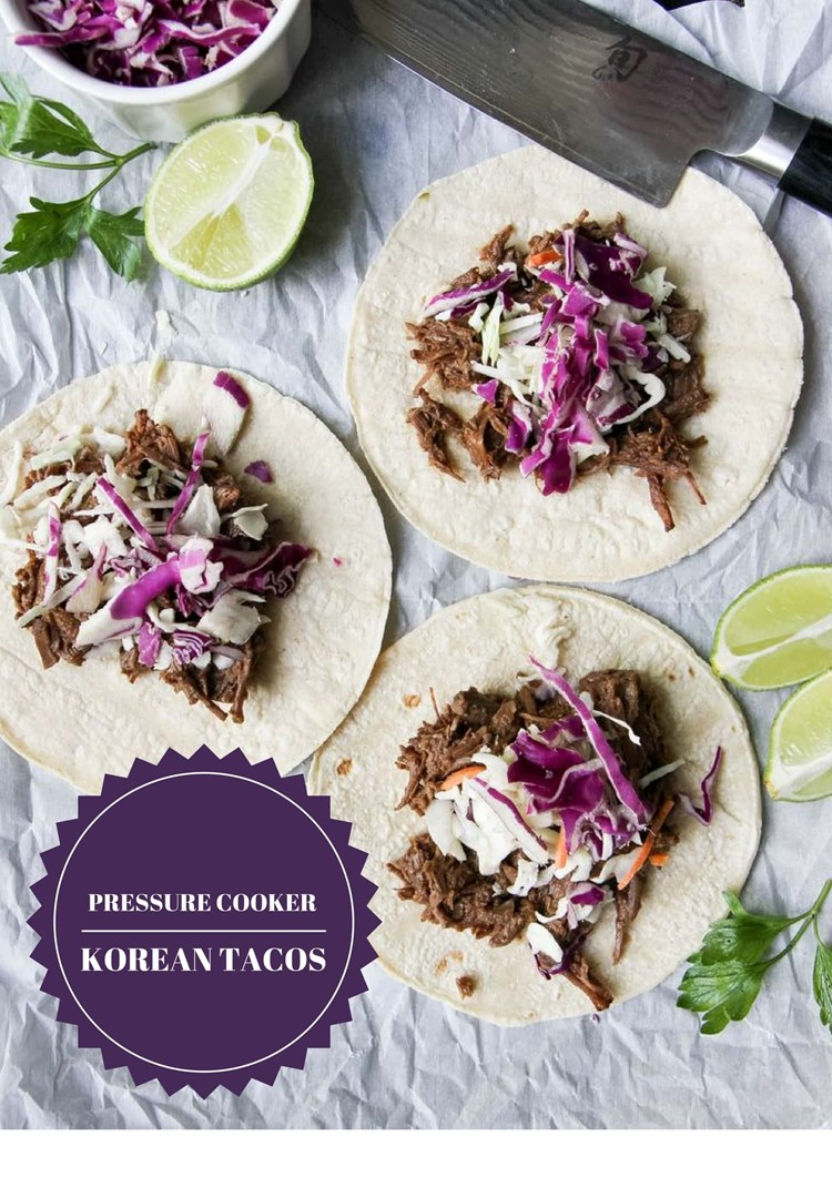 Pressure Cooker Korean Tacos