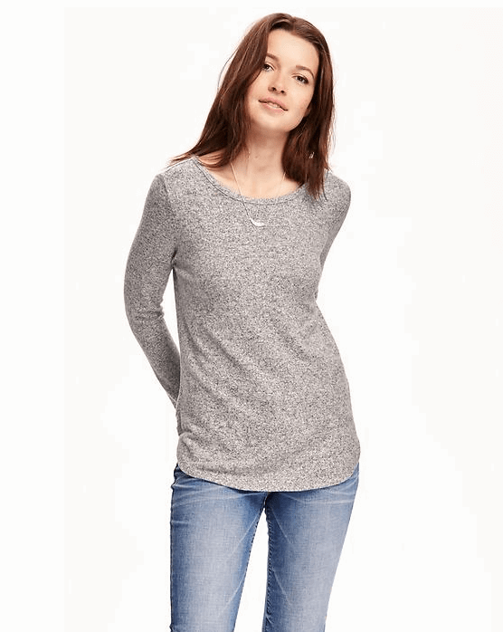 Old Navy Brushed Fleece T-Shirt