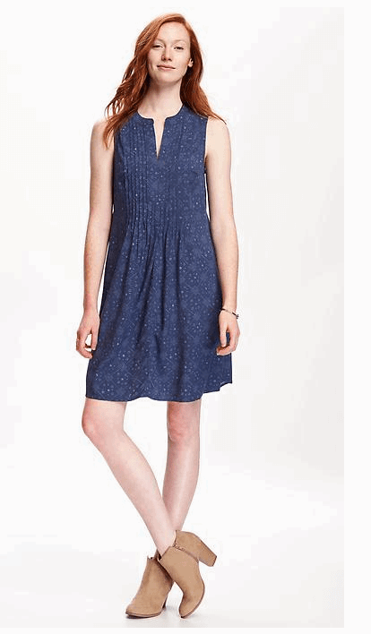 Pintuck Swing Dress from Old Navy
