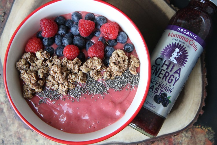 Raspberry Smoothie Bowl from MomAdvice.com