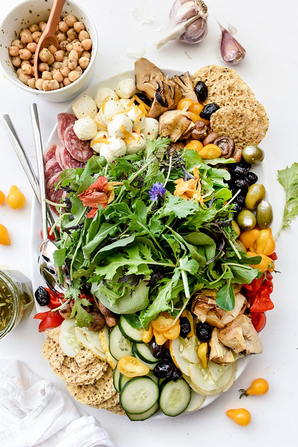 Italian Salad Platter from FoodieCrush