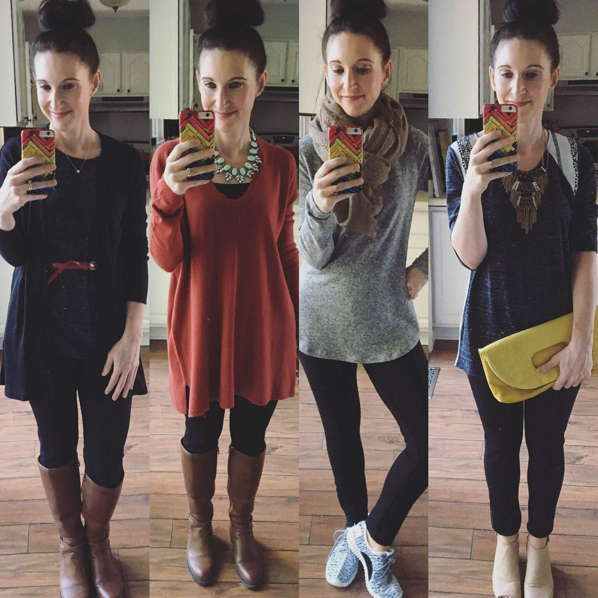 4 Ways to Wear Black Leggings
