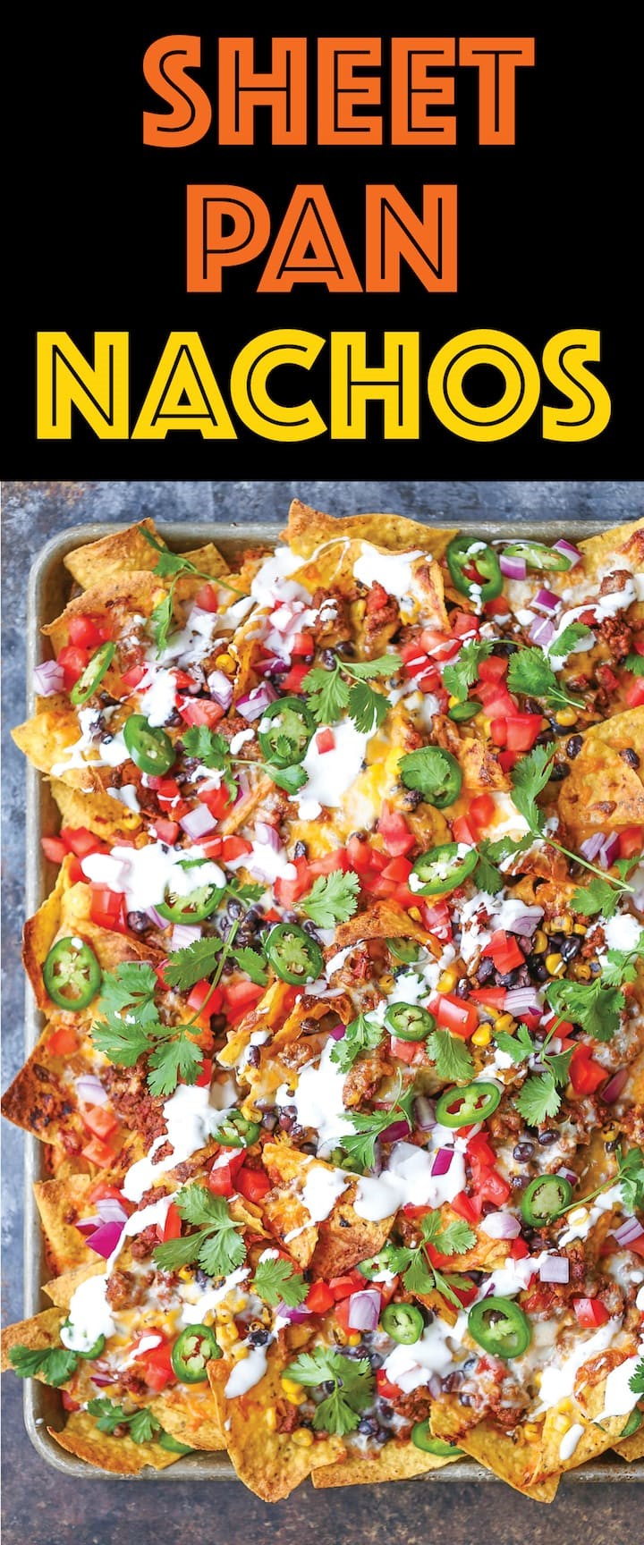 Sheet Pan Nachos from Damn Delicious