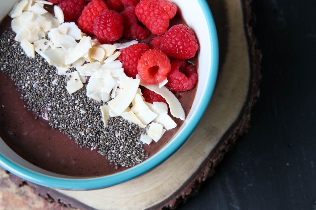 Chocolate Cherry Smoothie Bowl from MomAdvice.com