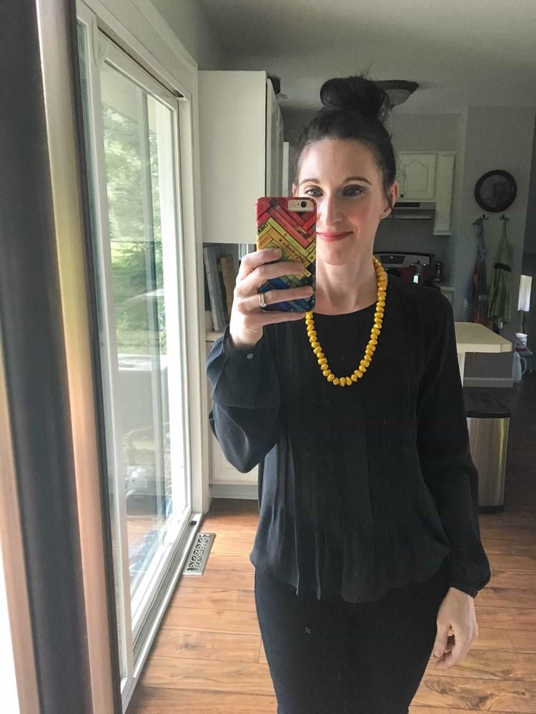 Black, Mustard Necklace
