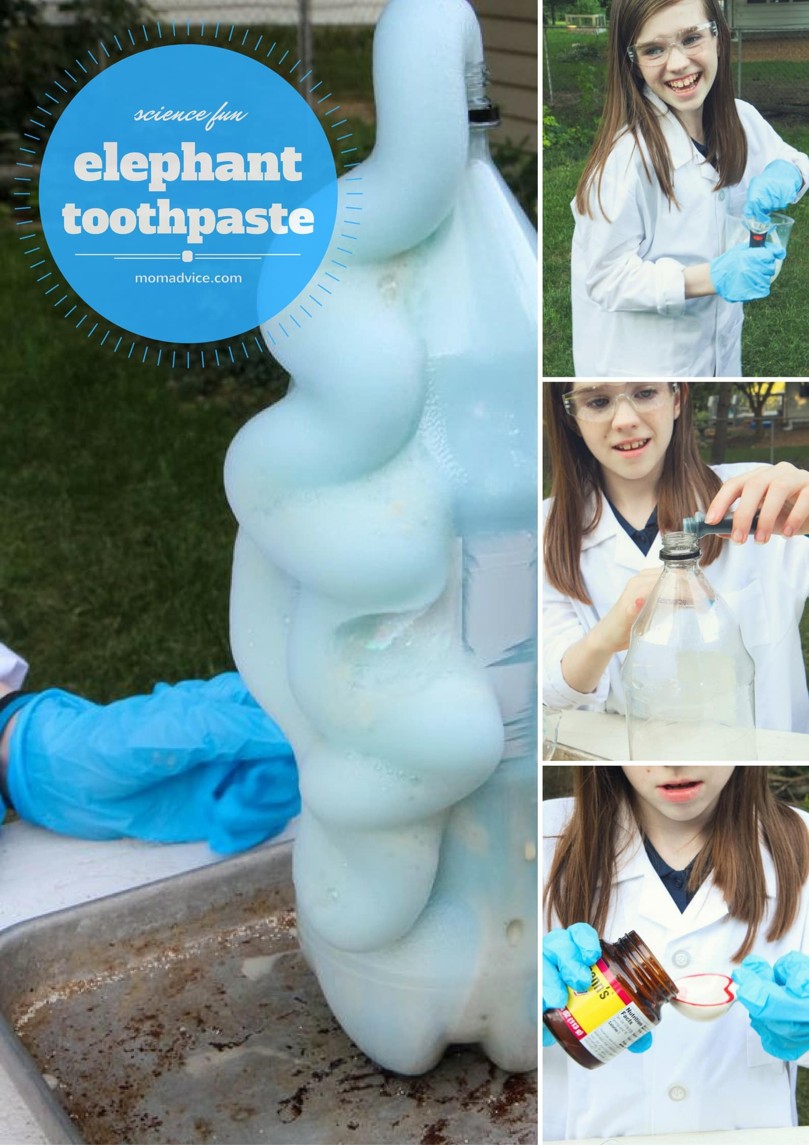 How to Make Elephant Toothpaste from MomAdvice.com