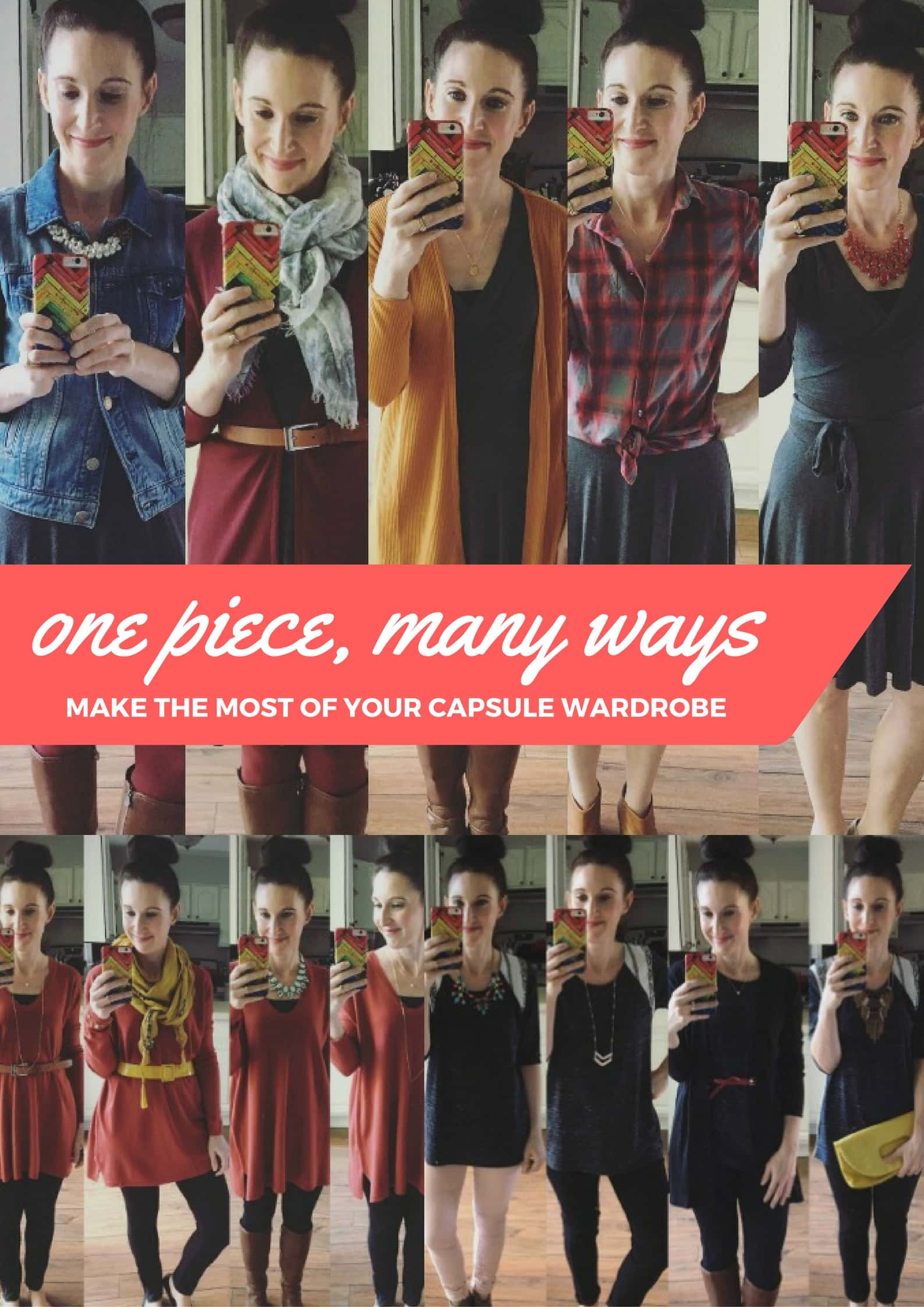 One Piece, Many Ways- Make the Most of a Capsule Wardrobe from MomAdvice.com