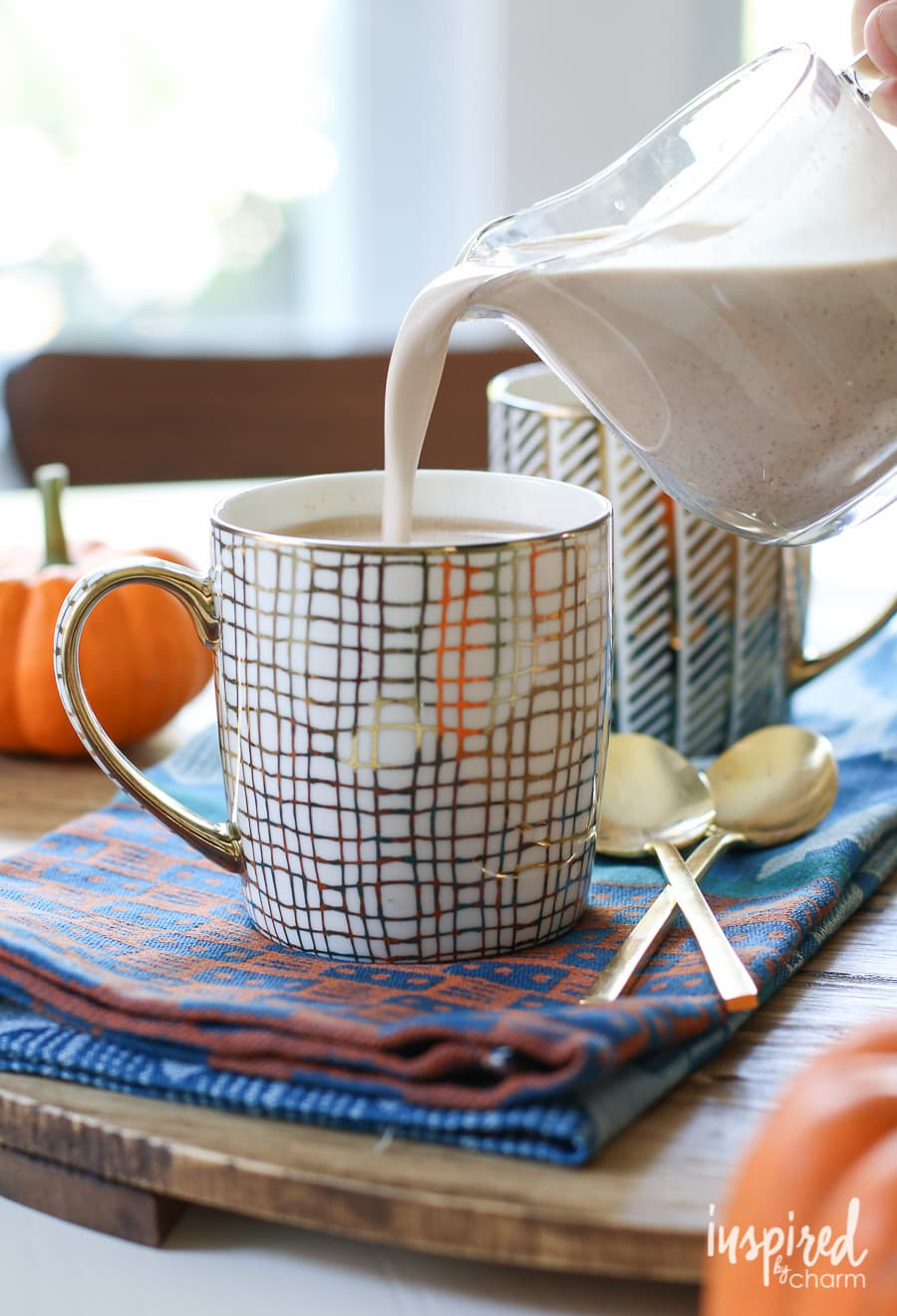 Pumpkin Creamer Recipe from Inspired by Charm