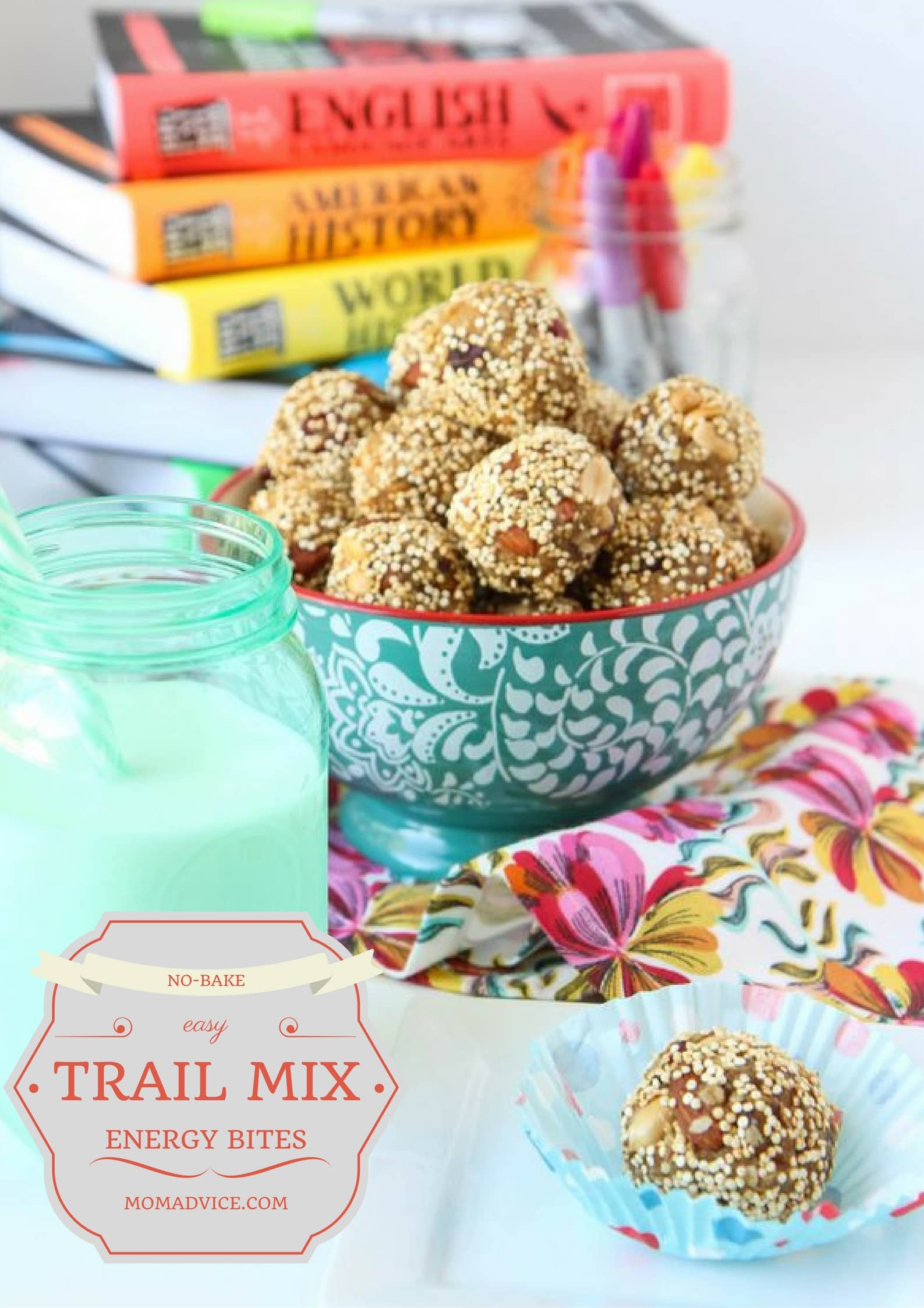 Trail Mix Energy Bites from MomAdvice.com