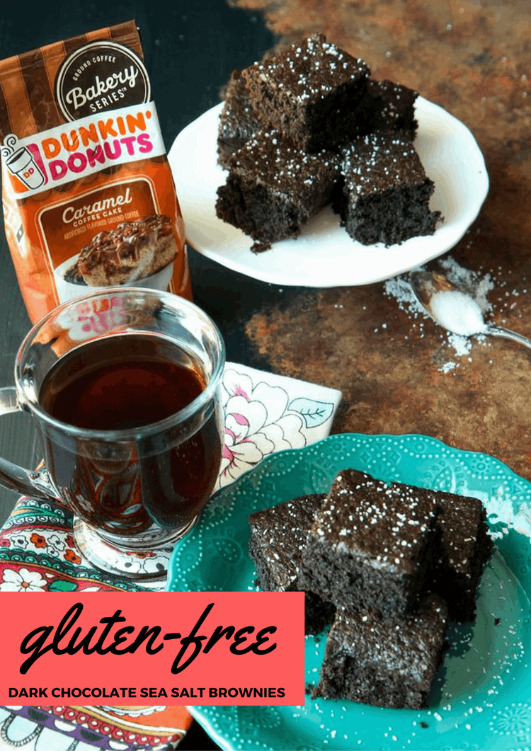 Gluten-Free Dark Chocolate Sea Salt Brownies from MomAdvice.com