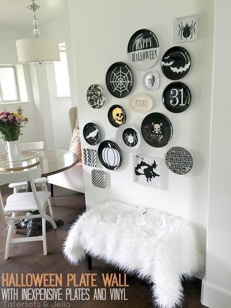 Halloween Plate Wall