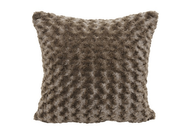 Rosette Fur Pillow