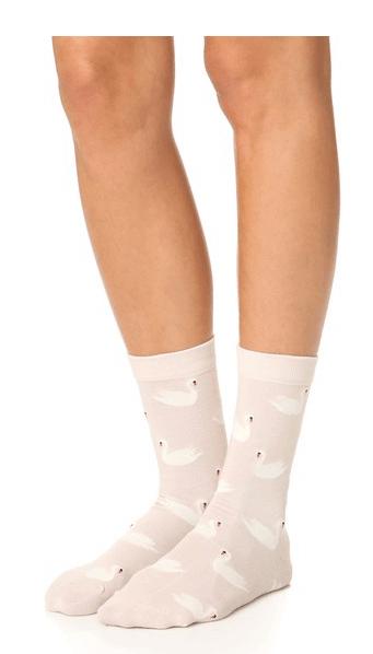 Swan Socks (Kate Spade)