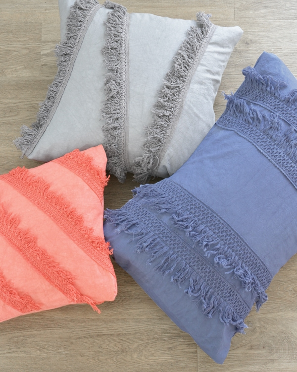 Dyed Fringe Pillows