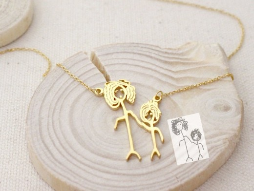 Children's Drawing Necklace