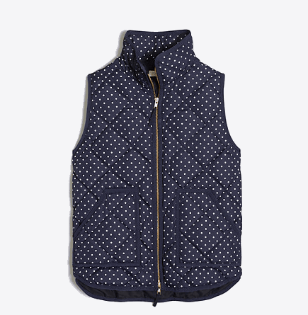 Polka Dotted Puffer Vest
