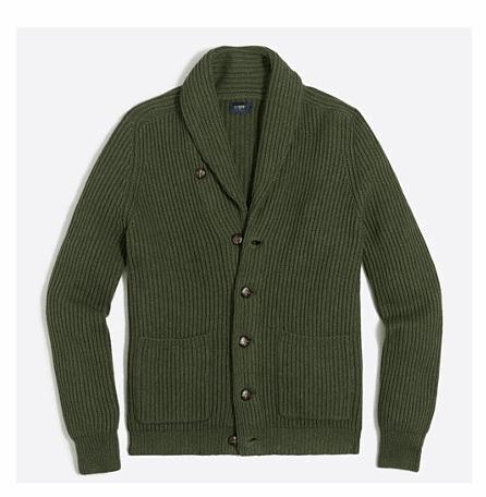 Ribbed Cardigan Sweater