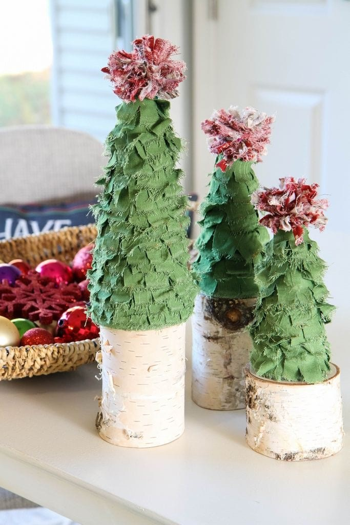 Scrappy Fabric Trees