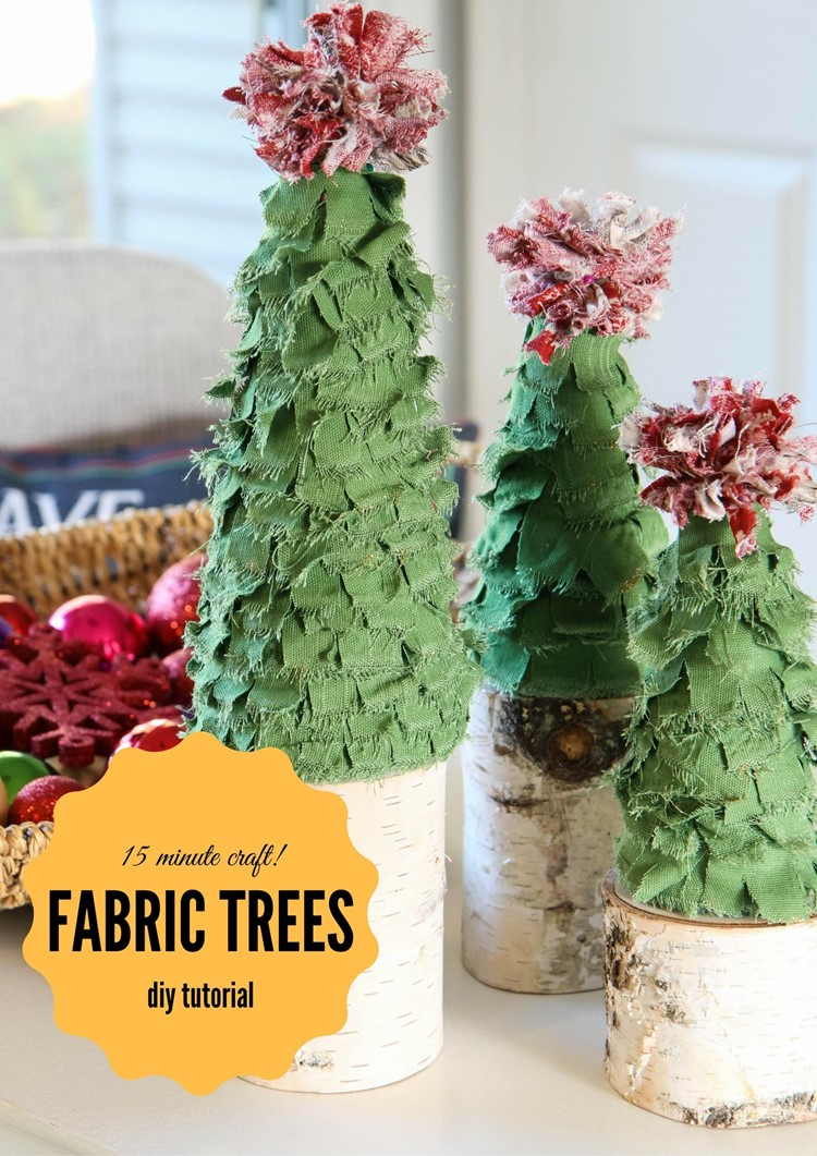 Scrappy Fabric Trees in Just 15 Minutes from MomAdvice.com