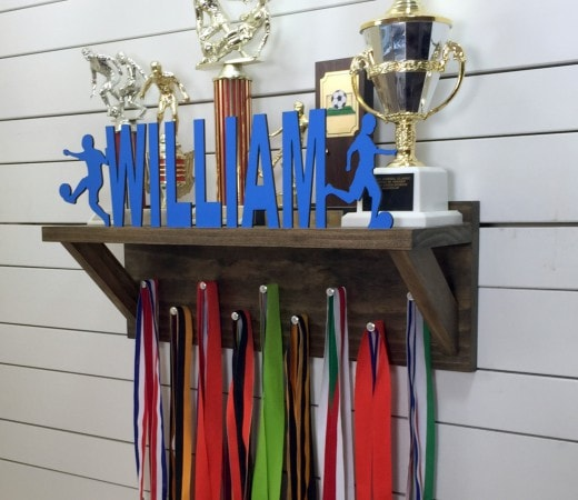 Personalized Trophy Rack