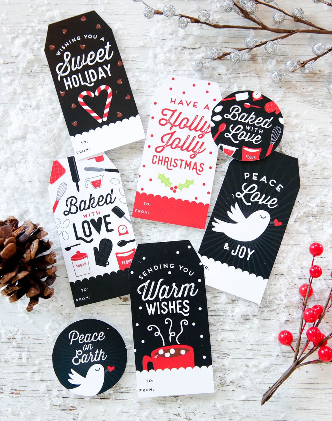 Free Customizable Gift Tags from Our Best Bites