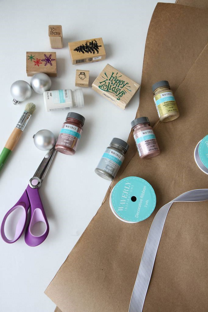 Easy Techniques for Painting Gift Wrap from MomAdvice.com