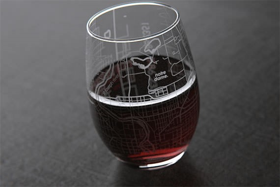 Notre Dame Wine Glass