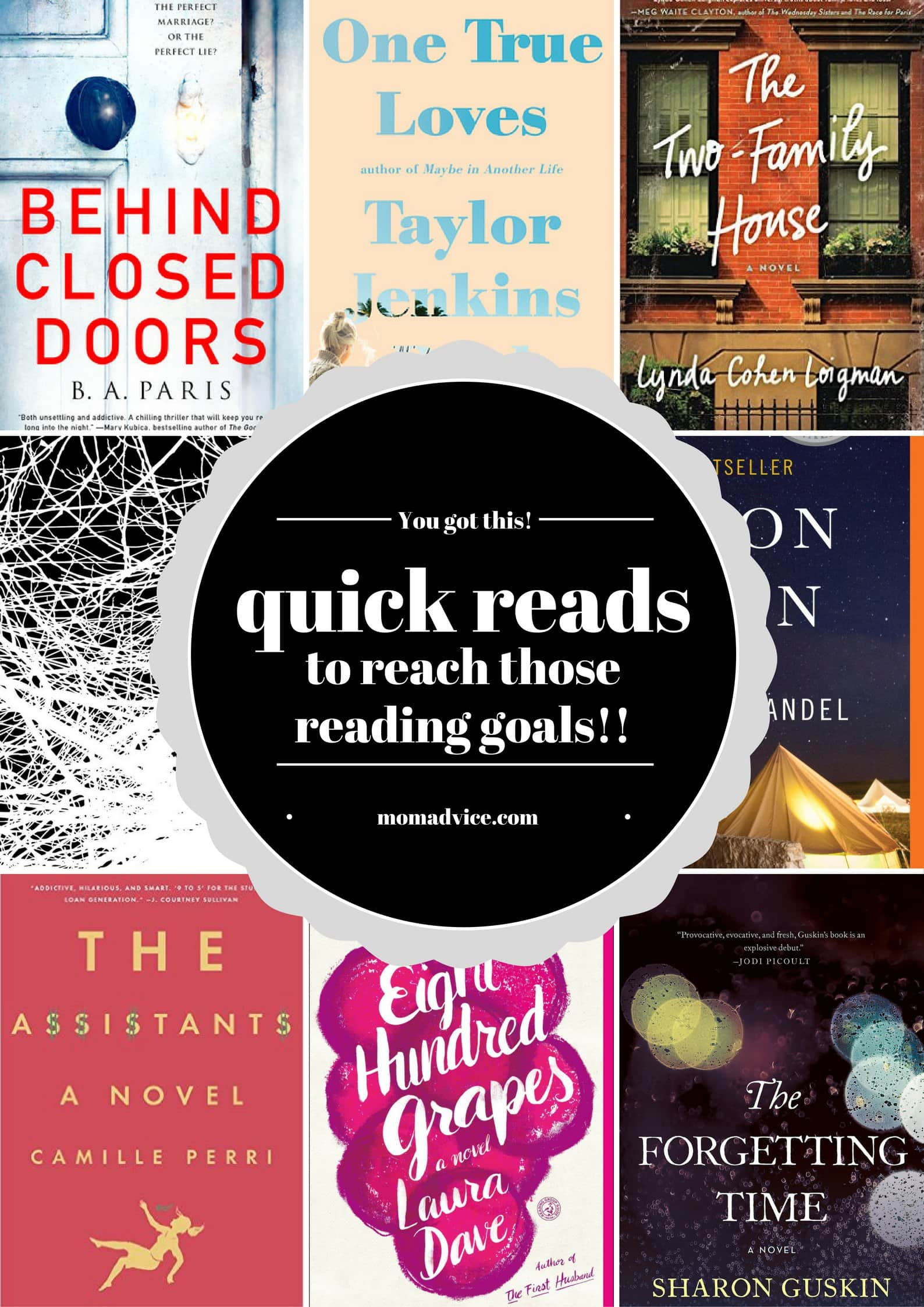 Quick Reads to Reach Those Reading Goals from MomAdvice.com
