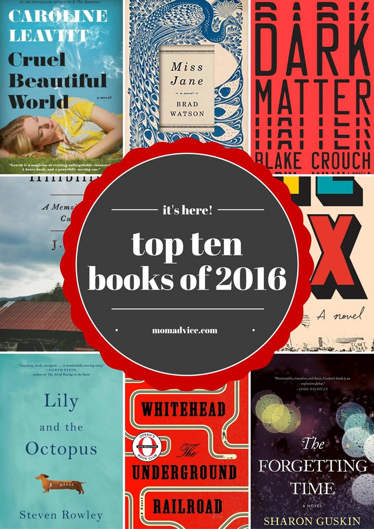 The Best Books of 2016 from MomAdvice.com
