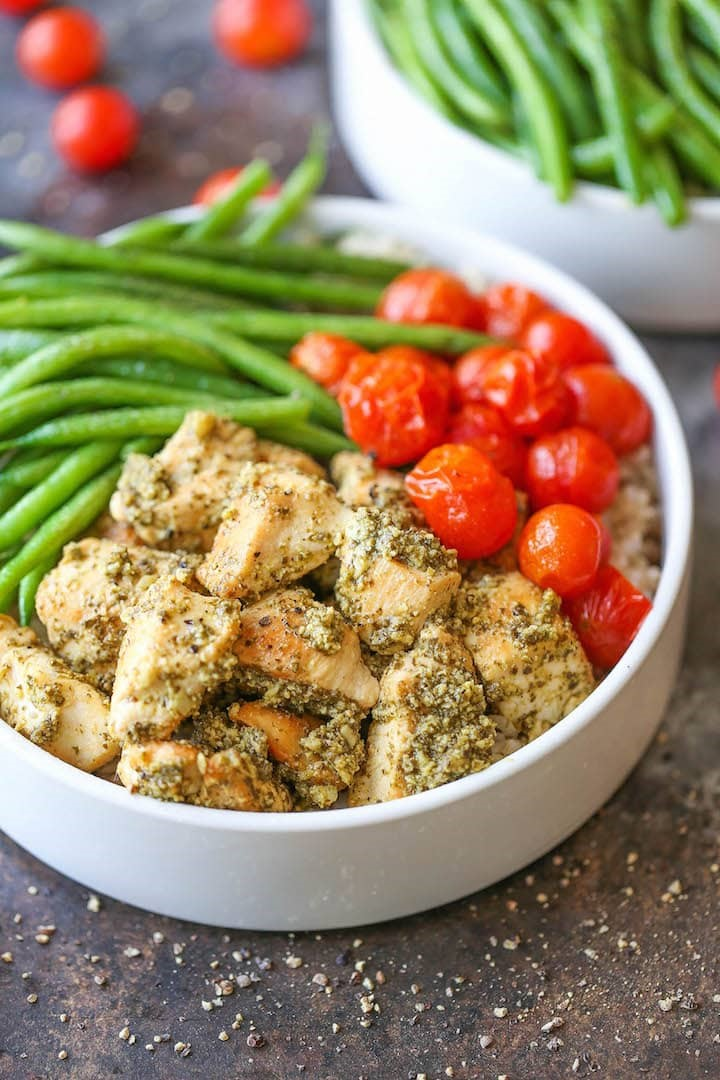 Chicken Pesto Bowls