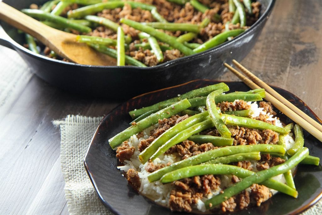 Asian Turkey and Green Bean Sauté from MomAdvice.com