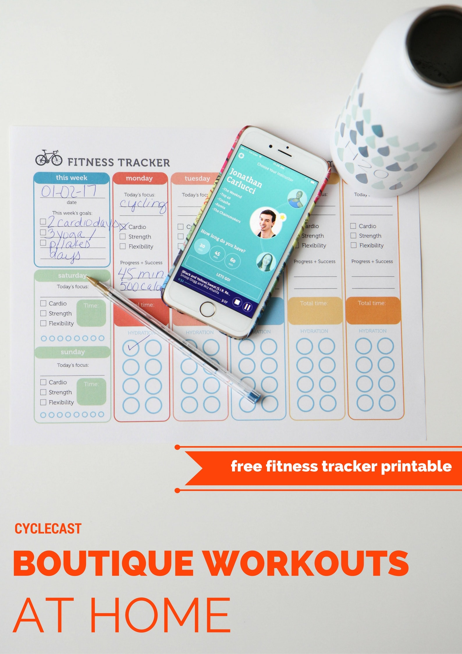 Boutique Workouts At Home (FREE Printable Fitness Tracker) from MomAdvice.com