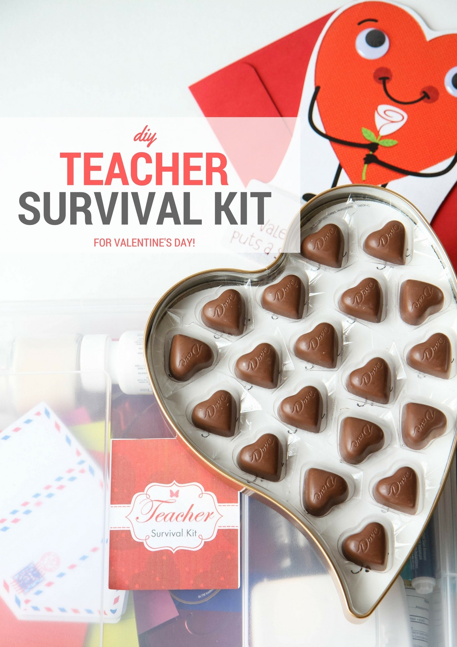image regarding Teacher Survival Kit Printable named Do-it-yourself Instructor Survival Package Present (Cost-free Printable!) - MomAdvice