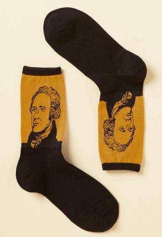Alexander Hamilton Socks