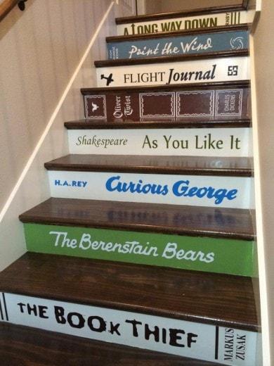 custom book step decals