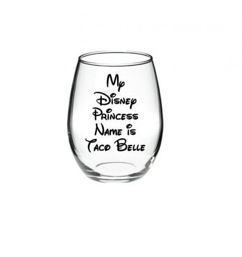 Taco Belle Wine Glass