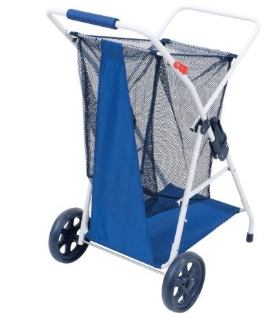 rio beach cart holds four chairs