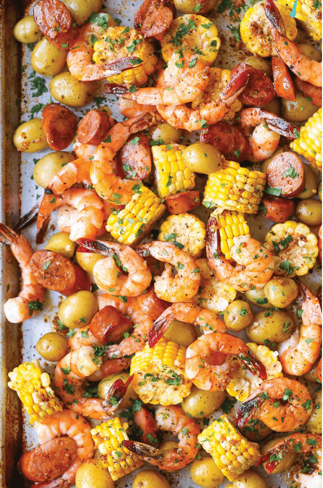 Sheet Pan Shrimp Boil from Damn Delicious