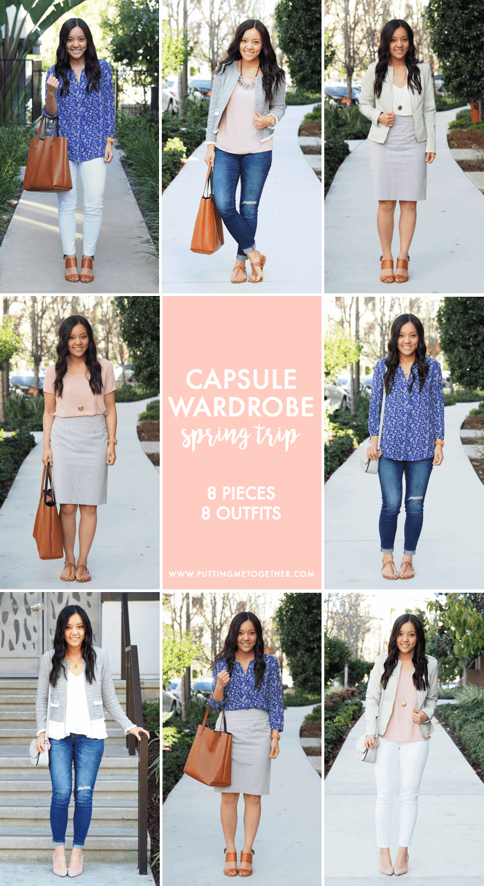 Spring Getaway Trip Packing List 8 Pieces 8 Outfits