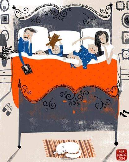 co-sleeping art print