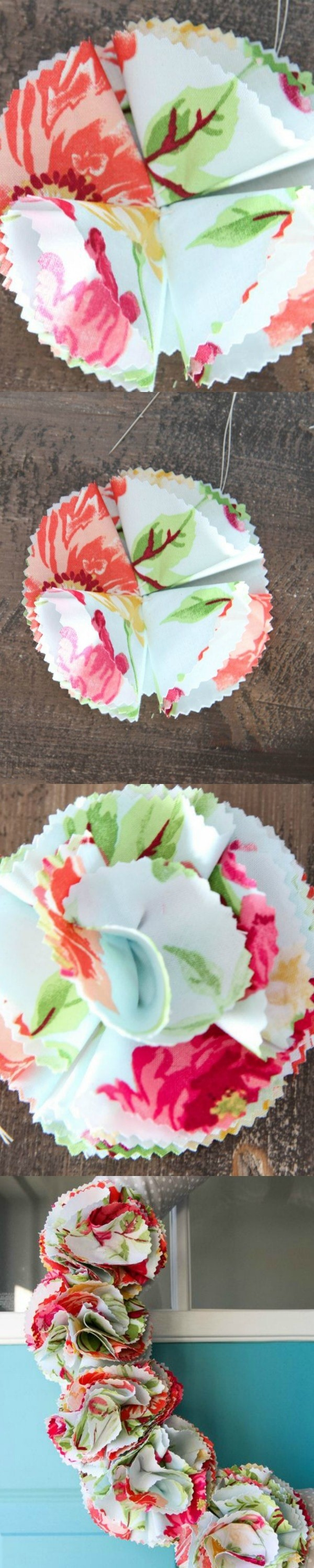 How to Make Fabric Flowers from MomAdvice.com
