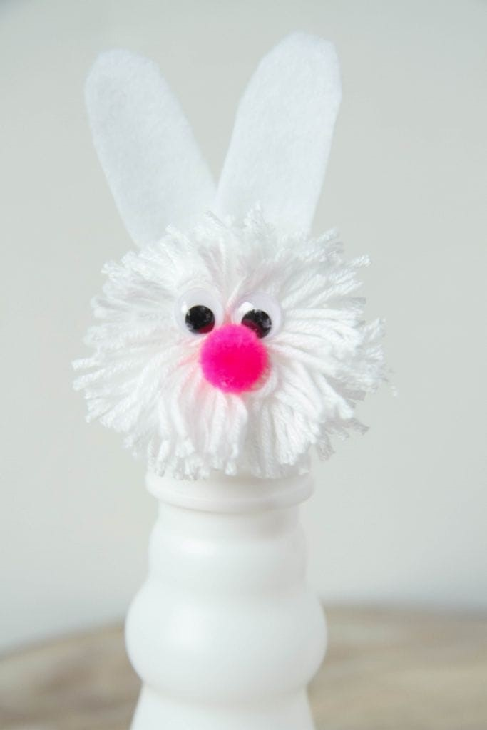 DIY Pom Pom Bunnies Craft from MomAdvice.com