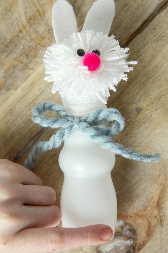 DIY Pom Pom Bunnies Craft from MomAdvice.com