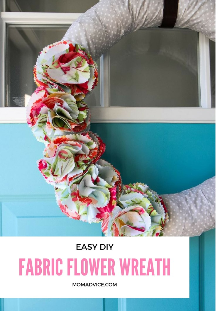 Fabric Flower Wreath For Spring Momadvice