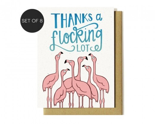 thanks a flocking lot card set