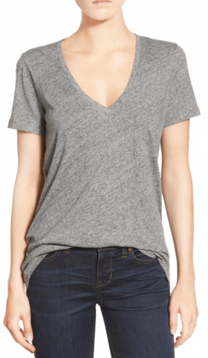 Whisper Cotton V-Neck Tee