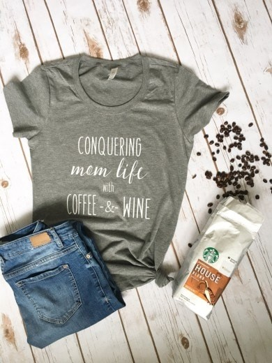 conquering mom life tee