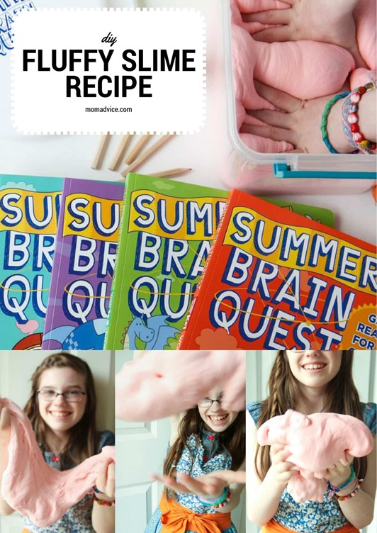 DIY Fluffy Slime Recipe (GIVEAWAY With Summer Brain Quest!!)